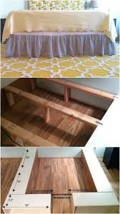 How To Build A Platform Bed With Storage Underneath by 21 Diy Bed Frame Projects U2013 Sleep In Style And Comfort Diy U0026 Crafts
