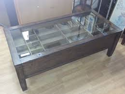 glass top display coffee table pottery barn display coffee table minimalist discover all of