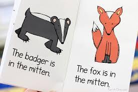 the mitten printable emergent reader for preschool and kindergarten