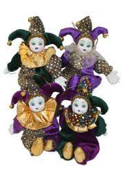 mardi gras jester dolls 8in mardi gras plush silk dolls