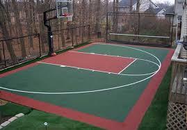 Backyard Basketball Hoops Triyae Com U003d Build Basketball Court In Backyard Various Design