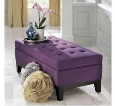 Purple Storage Ottoman Brilliant Purple Storage Ottoman Domesticated Lust Linley Fabric