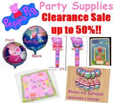 peppa pig party supplies qoo10 big clearance sale 50 peppa pig party supplies