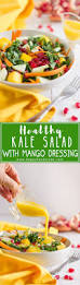 easy thanksgiving salads healthy kale salad with mango dressing recipe happyfoods tube