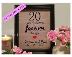 20 year wedding anniversary gifts 20th anniversary etsy