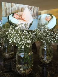 centerpieces for centerpieces for baby girl s baptism reception jar rocks