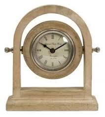 rustic beach blue linden mantel clock quartz alarm clock wooden