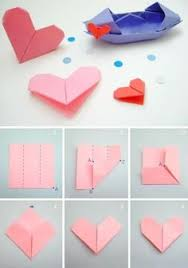 Origami With Letter Size Paper - how to fold origami notes for valentines day like you did in
