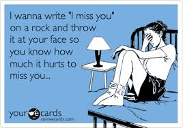 I Miss U Meme - i wanna write i miss you on a rock and throw it at your face so