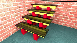 how to make stairs with a glass 3d model in sweet home 3d 01