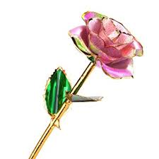 dipped in gold 24k gold flower with stem dipped in