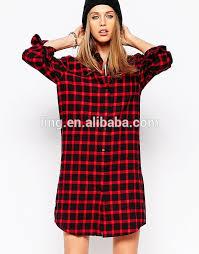 ladies fashion eleven paris checked shirt dress cheap t shirt