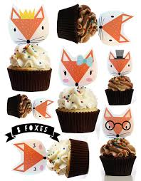 edible cake decorations fox stand up cake cupcake toppers top my bake cake cupcake