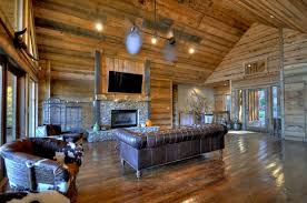 Pc Hardwood Floors Rustic Living Room With Ceiling Fan By Cristie Karsten Zillow