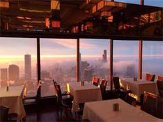 the signature room on 95th floor of hancock building downtown