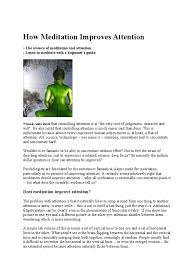 how meditation improves attention meditation attention
