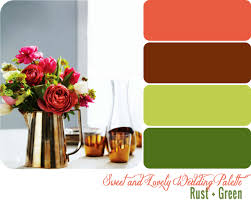 Green Color Palette by Wedding Color Palette Rust Green Sweet And Lovely Life