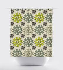 Green And Gray Shower Curtain Flower Shower Curtain Lime Green And Gray Modern