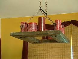 How To Make Homemade Chandelier How To Make A Candle Chandelier Hgtv