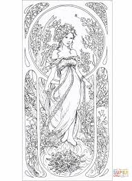 painting by alphonse mucha new alphonse mucha coloring pages
