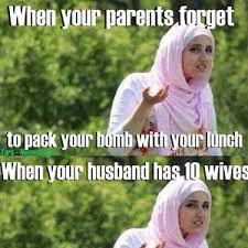 Racist Muslim Memes - confused muslim girl no racism implied by tars meme center