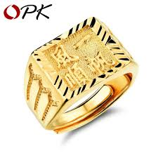 wholesale gold rings images Opk gold ring men women gift wholesale gold color 14mm wide jpg