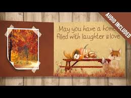 thanksgiving carrousel after effects template