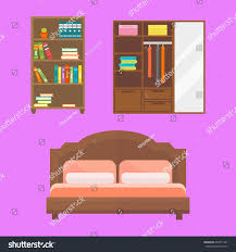 Library Office by Furniture Home Decor Icon Set Indoor Stock Vector 603471281