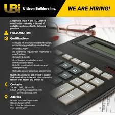 application letter any position available careers ulticon builders inc ulticon builders inc fieldauditor
