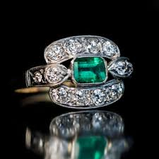 emerald engagement rings antique jewelry vintage rings