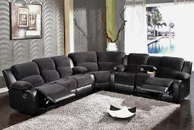 Black Sectional Sofas Black Sectional Sofa With Recliners Home Design Ideas And Pictures