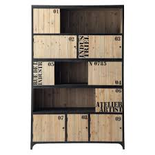 metal bookcase in black w 130cm docks maisons du monde