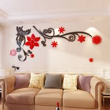aliexpress com buy 3d stereo flower vine acrylic crystal wall