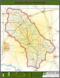 bayou map maps data attoyac bayou watershed protection plan development