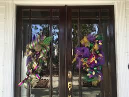 mardi gras door decorations getting ready for mardi gras my gumbo