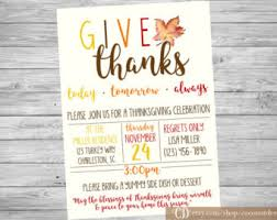 printable thanksgiving invitation editable