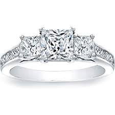 cheap princess cut engagement rings three princess cut engagement ring w channel set princess