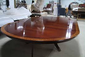 12 Foot Dining Room Table Custom American Made 84 Inch Round Mahogany Dining Table