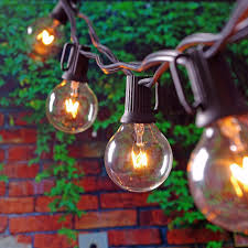 Where To Buy Patio Lights 25ft Globe String Lights With 25 G40 Bulbs Vintage Patio Garden