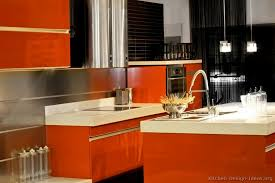 Red Orange Kitchen Home Design Ideas Murphysblackbartplayerscom - Orange kitchen cabinets