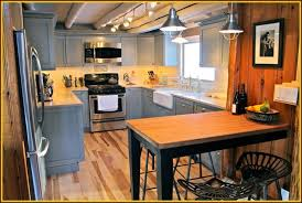 Cabin Kitchen Cabinets Kitchen Modern Rustic Kitchen Design With Gray U Shaped Kitchen