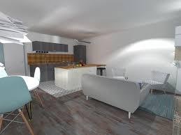 cuisine rectangulaire cuisine salon 20m2 cuisine en image pour aménager un salon