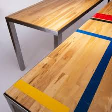 reclaimed gym floor community u0026 conference table reclaimed