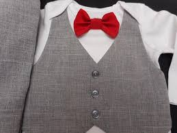 light gray vested suit baby boy suit wedding light gray vest pants red satin or