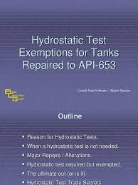 5 hydrostatic test exemptions leak welding