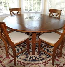 cherry dropleaf table with granite lazy susan eight chairs ebth cherry dropleaf table with granite lazy susan eight chairs