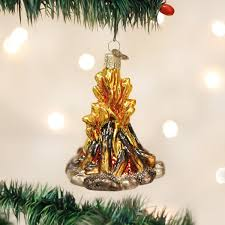 amazon com old world christmas campfire glass blown ornament