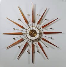 modern wall clocks mid century modern starburst wall clock by