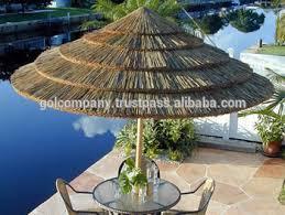 Palm Tree Patio Umbrella Wholesale Tropical Real Palm Leaf Umbrella Thatched Patio