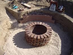 Brick Firepit Brick Pit Plans Designs Ideas And Decors Attractive Diy